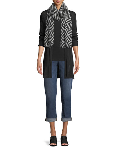 Fine Silk/Organic Linen Cardigan  Petite and Matching Items