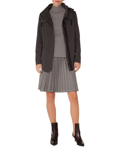 Glen-Check Pleated A-Line Knit Skirt and Matching Items