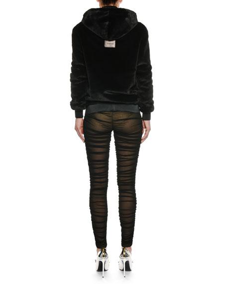 Zip-Front Faux-Shearling Jacket