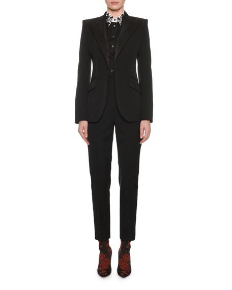 Satin-Lapel One-Button Tuxedo Jacket