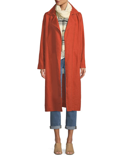 Organic Linen Trench Coat and Matching Items
