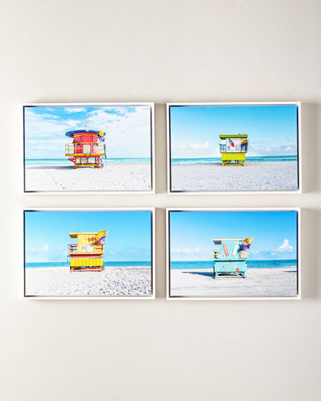 "Lifeguard Chair Beach Giclee, 24"" x 16"""