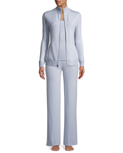 Cashmere Zip-Front Sweater and Matching Items