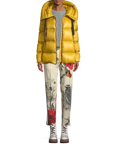 Serin Puffer Coat w/ Drawstring Hood and Matching Items