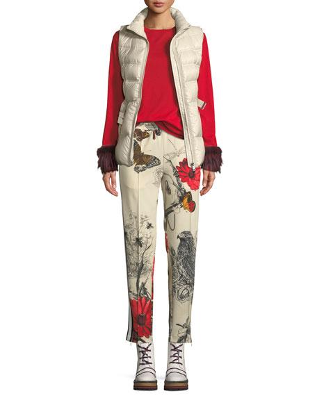 Aigrette Belted Puffer Vest