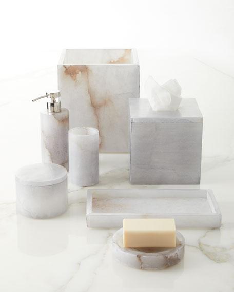 Alabaster Bath Accessory Tumbler