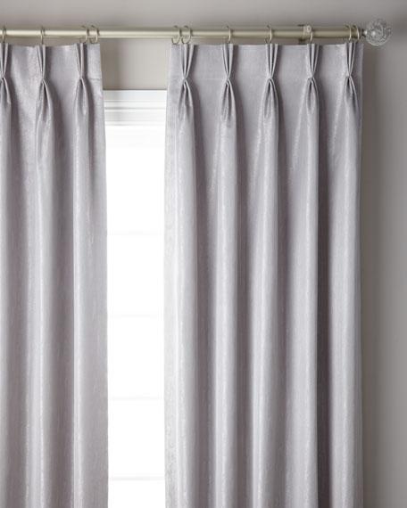"3-Fold Pinch Pleat Shimmer Curtain Panel, 120"""