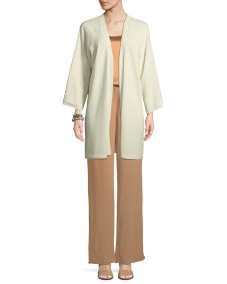 Italian Cashmere Long Kimono Cardigan
