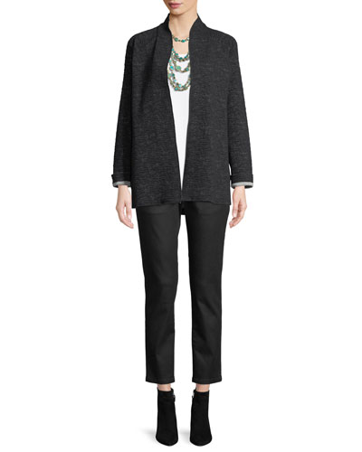 Ridged High-Collar Jacket  and Matching Items