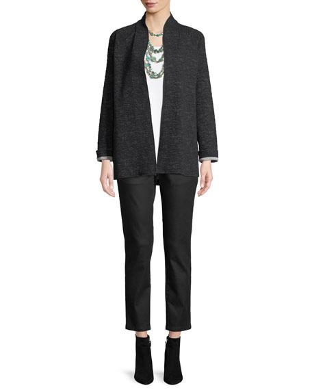 Ridged High-Collar Jacket