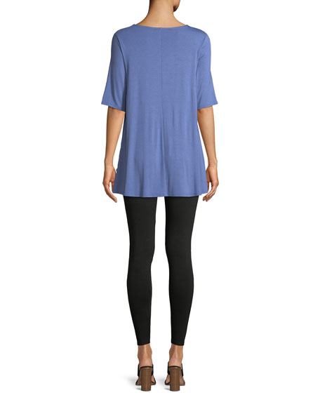 Short-Sleeve Jersey Tunic