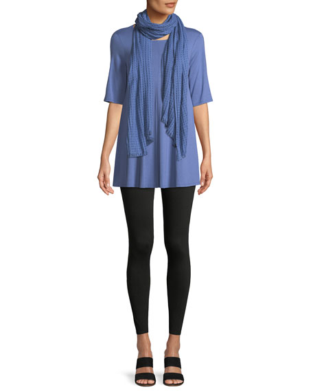 Short-Sleeve Jersey Tunic, Plus Size