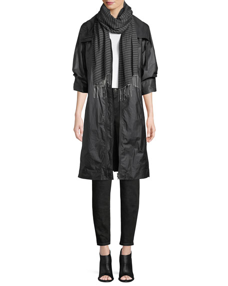 Coated Cotton Zip-Front Jacket