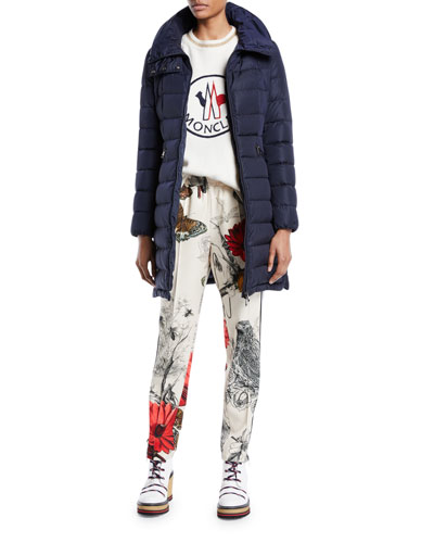 Flammette Long Puffer Jacket and Matching Items