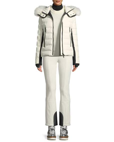 Moncler Grenoble Lamoura Hooded Puffer Jacket w/ Removable Fur Trim