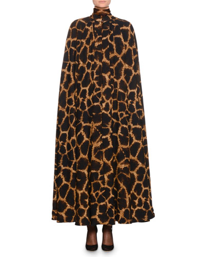 Giraffe-Print Cady Cape and Matching Items