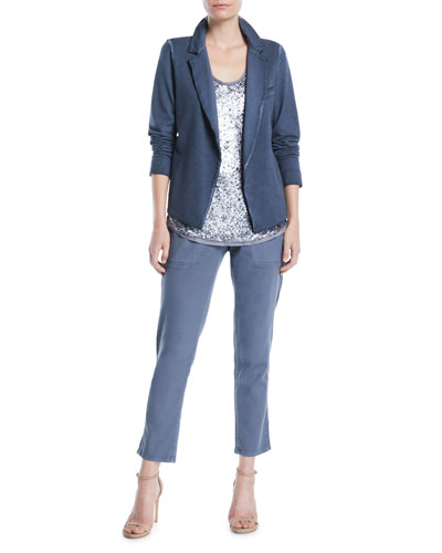 Terry Open-Front Garment-Dye Blazer, Petite  and Matching Items