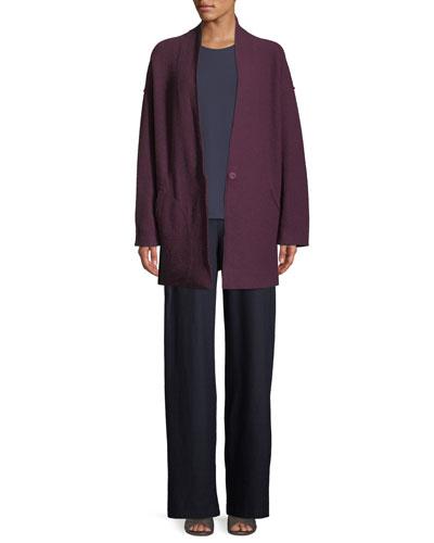 Lightweight Boiled Wool Kimono Jacket, Petite and Matching Items