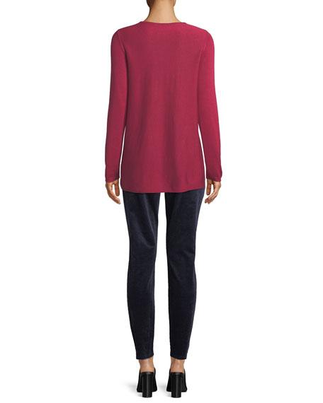Tencel®/Silk Round-Neck Sweater, Plus Size