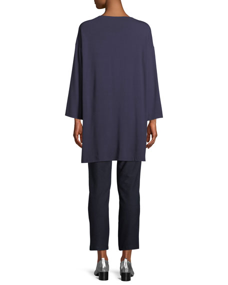 Bateau-Neck Jersey Tunic, Plus Size