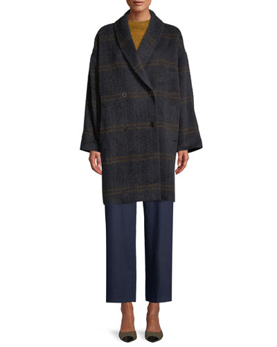 Windowpane Luxe Alpaca Car Coat, Plus Size and Matching Items