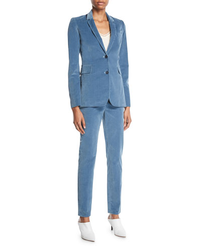 Sophie Single-Breasted Stretch-Corduroy Blazer Jacket and Matching Items