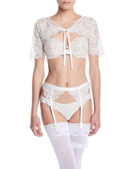 Maison Lejaby Oui Lejaby Lace-Trim Bikini Briefs, Cream