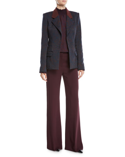 Porsha Blazer w/ Contrast Collar and Matching Items