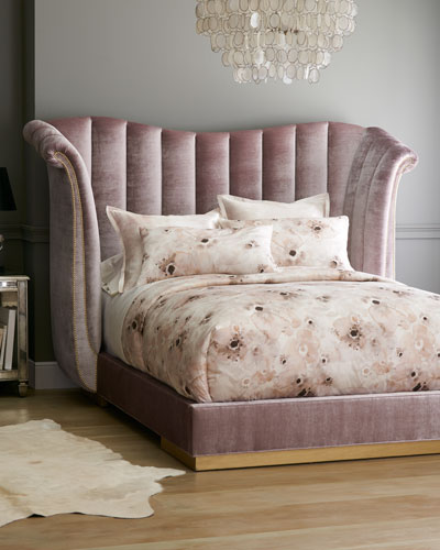 Moira Channel Tufted Queen Bed  and Matching Items