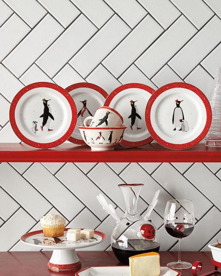 Sara Miller Sara Miller Red Penguin Holiday Mugs, Set of 4