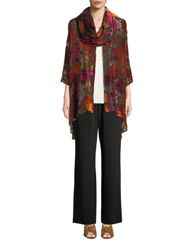 Evening Bouquet Velvet Burnout Cardigan  and Matching Items