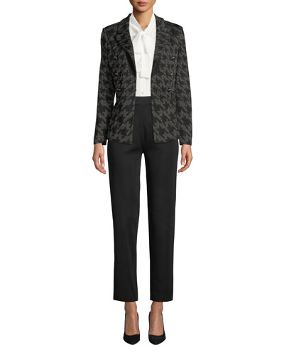 Houndstooth Knit Blazer  and Matching Items