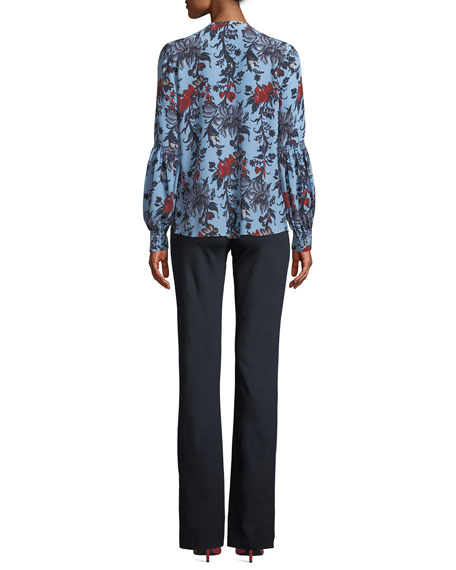 Natashia Floral Blouse in Silk