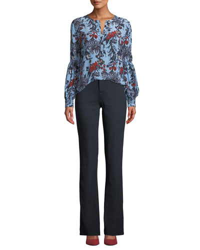 Natashia Floral Blouse in Silk and Matching Items