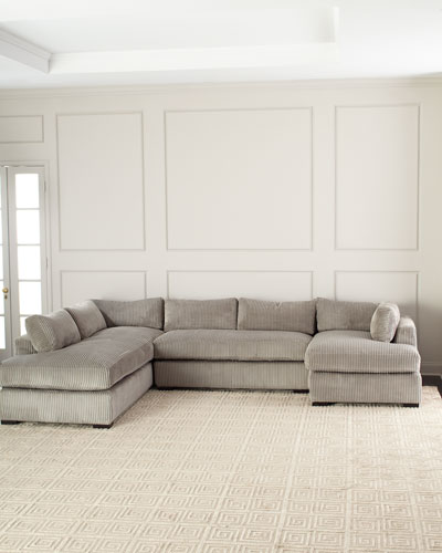 Mitchell Upholstered Sectional Sofa (Left Facing) and Matching Items