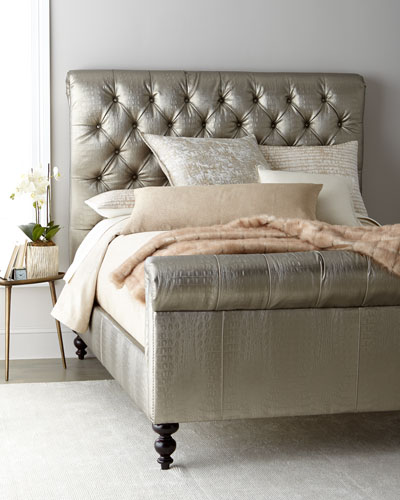 Jesse Faux-Leather Tufted Queen Bed  and Matching Items