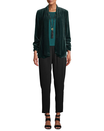 Velvet Open-Front Jacket, Plus Size  and Matching Items