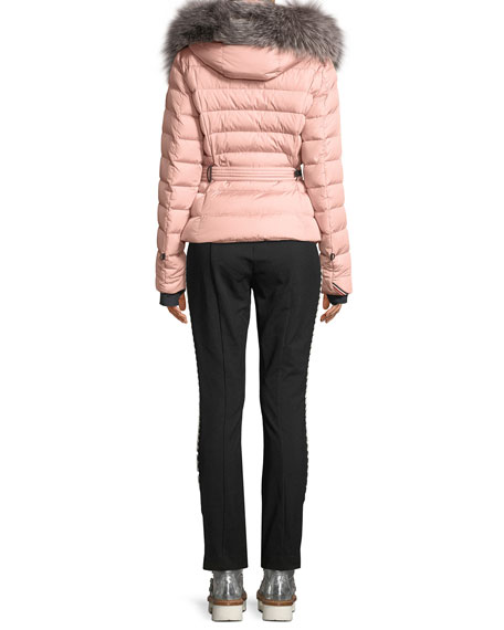 Moncler Grenoble Beverly Fitted Puffer Coat w/ Removable Fur