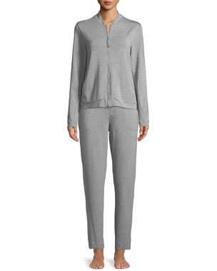 dfa4c78f096d3 Hanro Balance Zip-Front Lounge Jacket Balance Long Lounge Pants