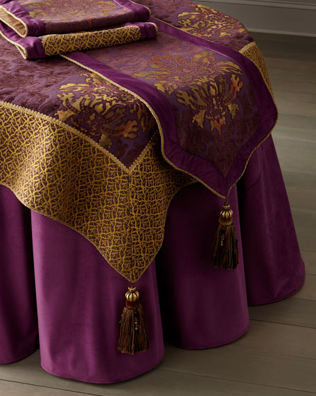 Dian Austin Couture Home Royal Court Table Runner w/ Tassel Ends