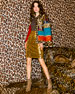 Image 7 of 8: Alice + Olivia Glennie Patchwork Coat w/ Leopard Faux-Fur Combo