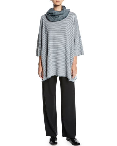 Flat-Front Straight-Leg Wool-Blend Trousers and Matching Items