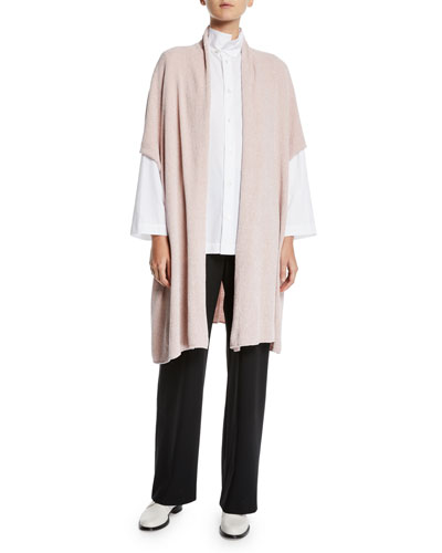 Silk Chenille Wide-Sleeve Shawl Cardigan and Matching Items