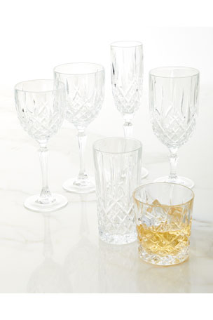 Marquis By Waterford Markham Square Decanter & Two Double Old-Fashioned Glasses Markham Wine Glasses, Set of 4