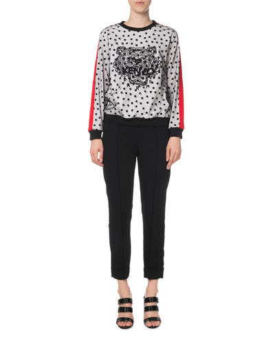 Embellished Dot-Print Tiger Logo Sweater and Matching Items