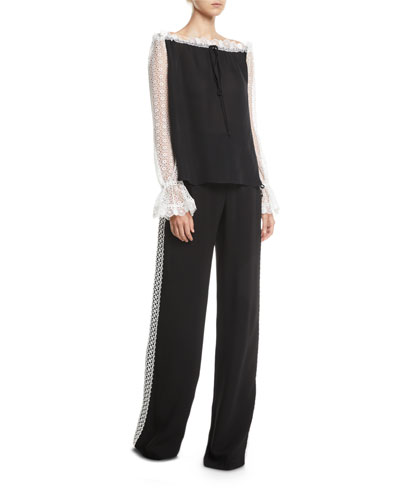 Lace Side-Striped Pants and Matching Items