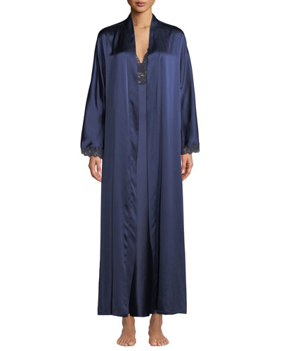 Bijoux Long Silk Robe  and Matching Items