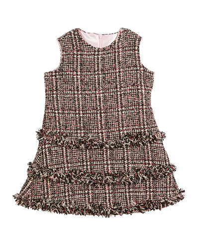 Tweed Fringe A-Line Dress  Size 2-6 and Matching Items