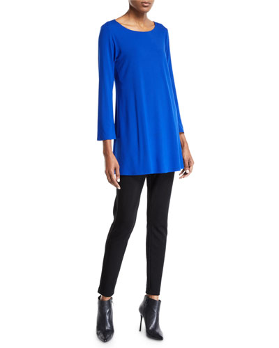 Wide-Sleeve Ballet-Neck Viscose Jersey Tunic and Matching Items