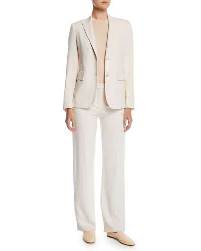 Silk-Wool Single-Breasted Blazer and Matching Items